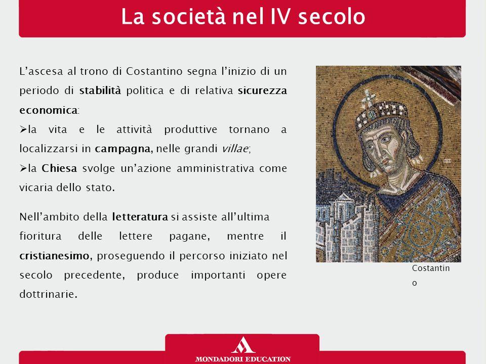 La società nel IV secolo