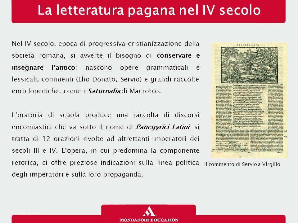 La letteratura pagana nel IV secolo