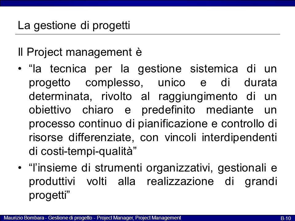 La gestione di progetti