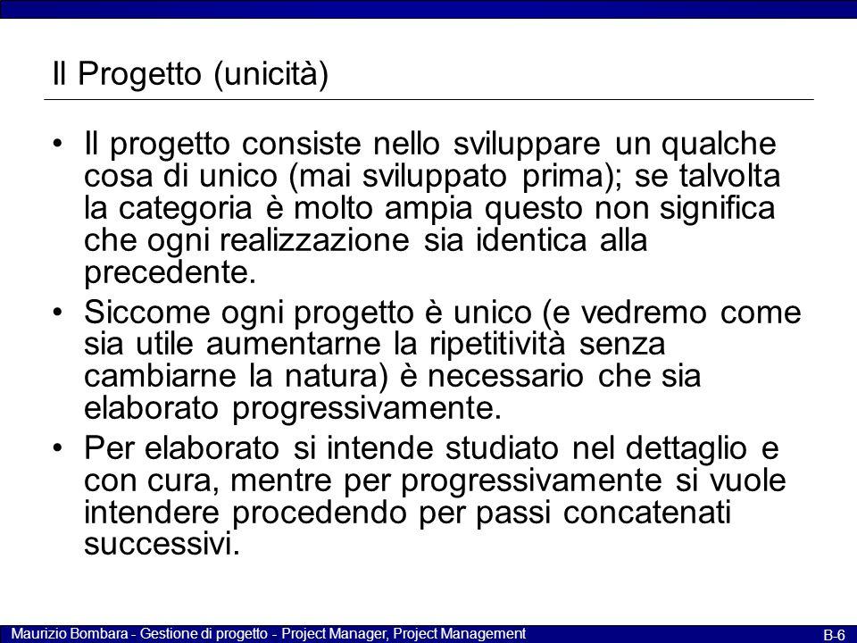 Il Progetto (unicità)