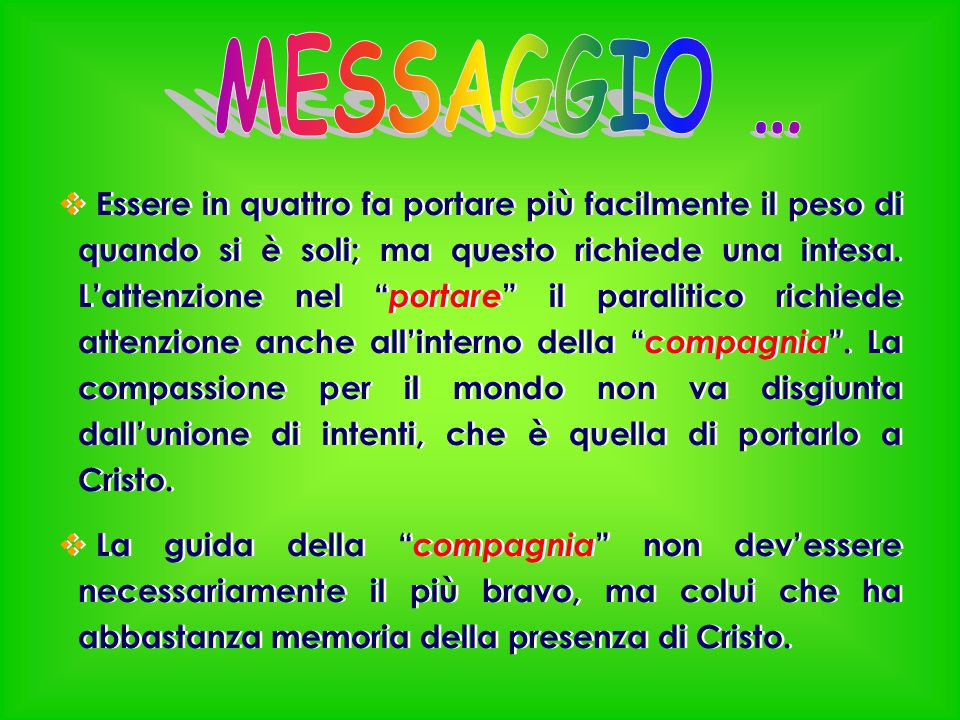 MESSAGGIO …