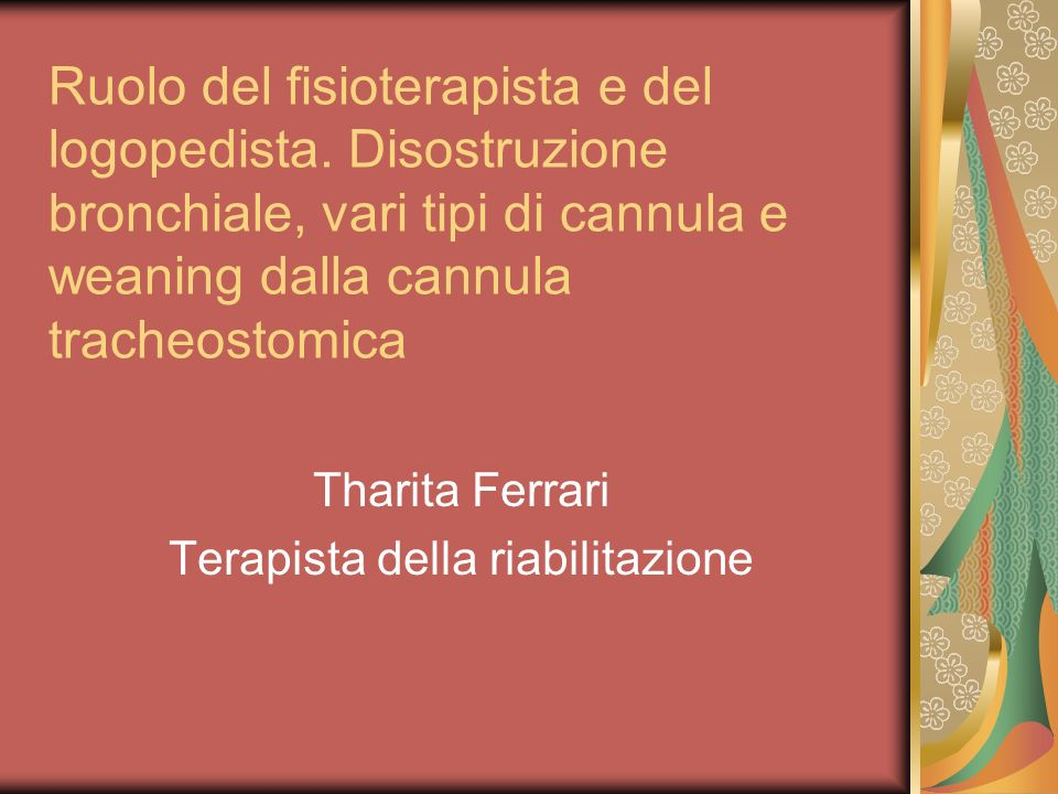 Tharita Ferrari Terapista della riabilitazione