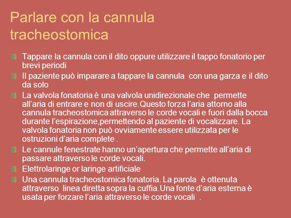 Parlare con la cannula tracheostomica
