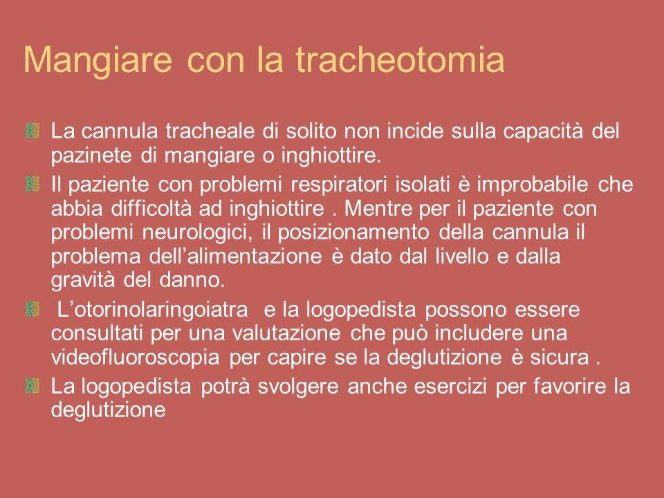 Mangiare con la tracheotomia