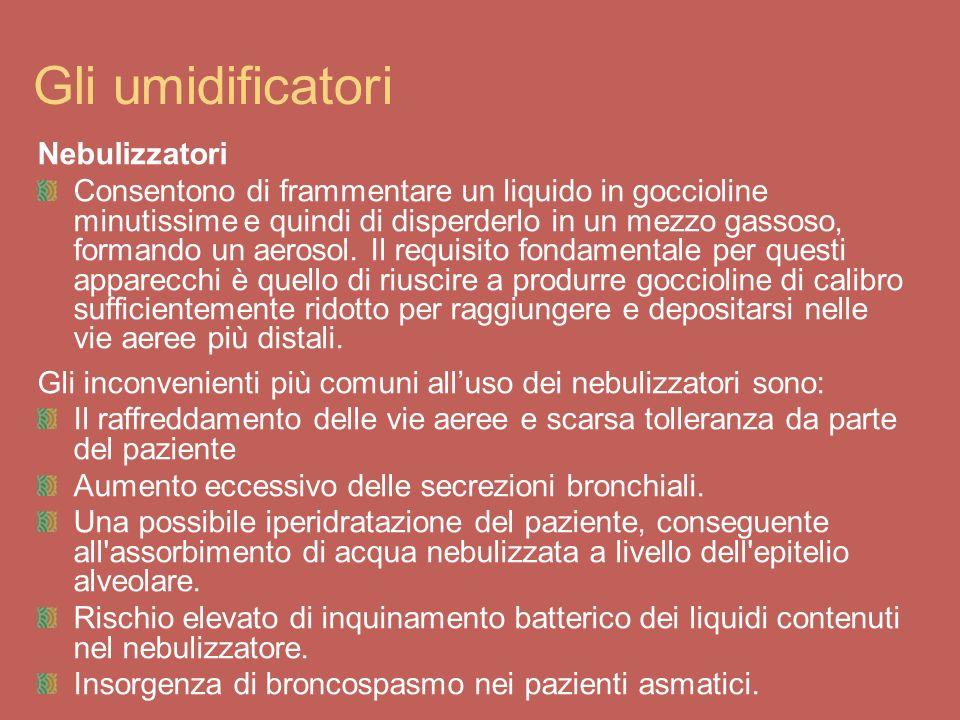Gli umidificatori Nebulizzatori