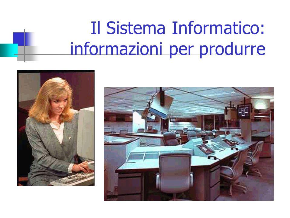Il Sistema Informatico: informazioni per produrre