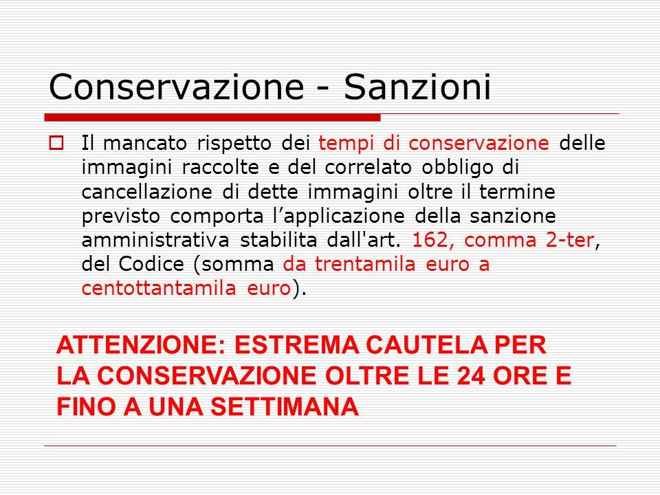 Conservazione - Sanzioni