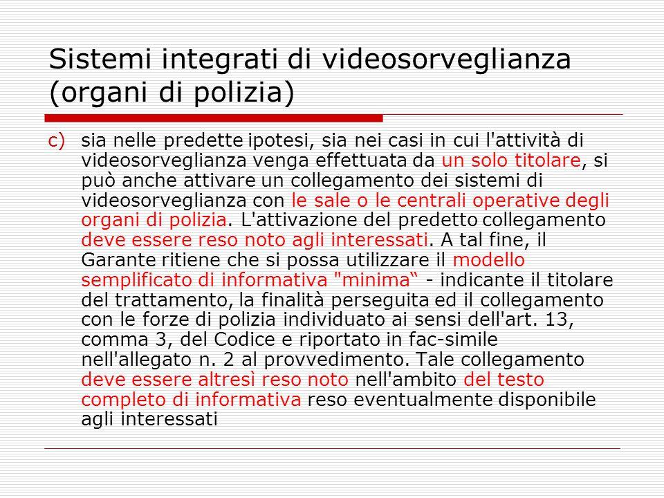 Sistemi integrati di videosorveglianza (organi di polizia)