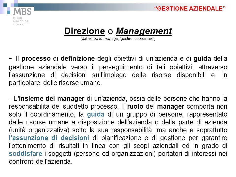 Direzione o Management