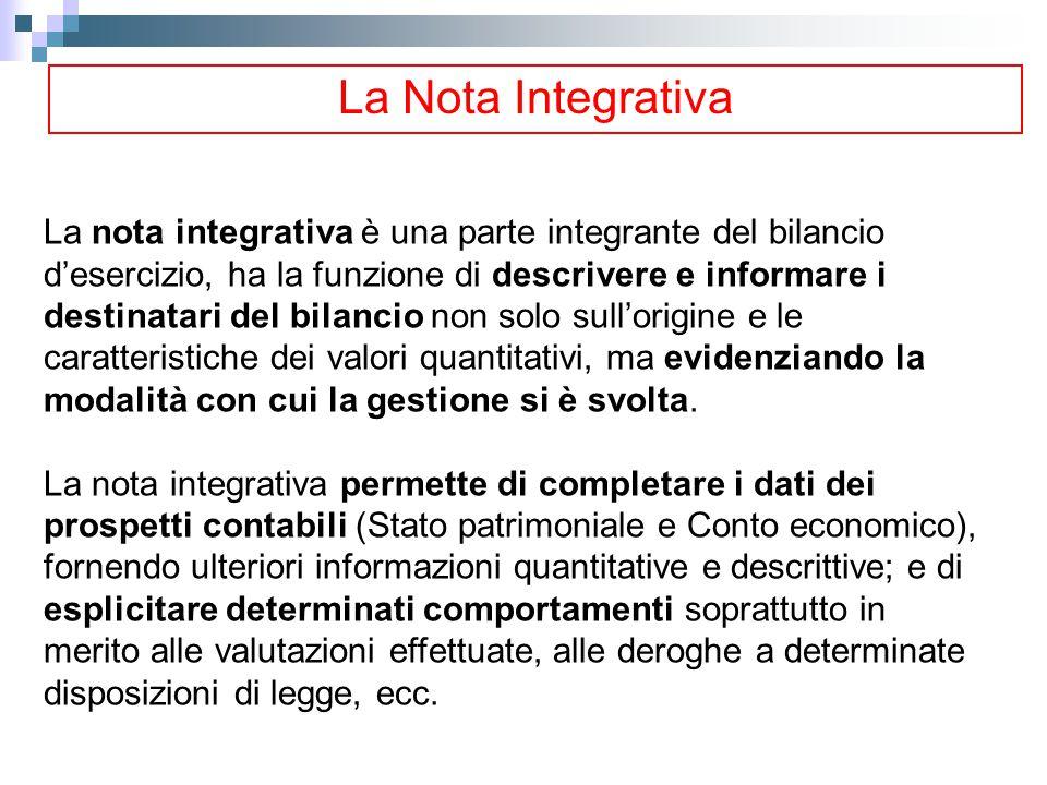 La Nota Integrativa
