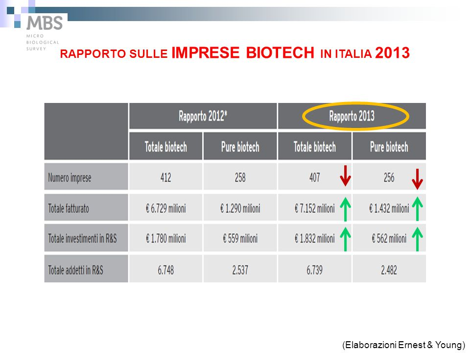 RAPPORTO SULLE IMPRESE BIOTECH IN ITALIA 2013