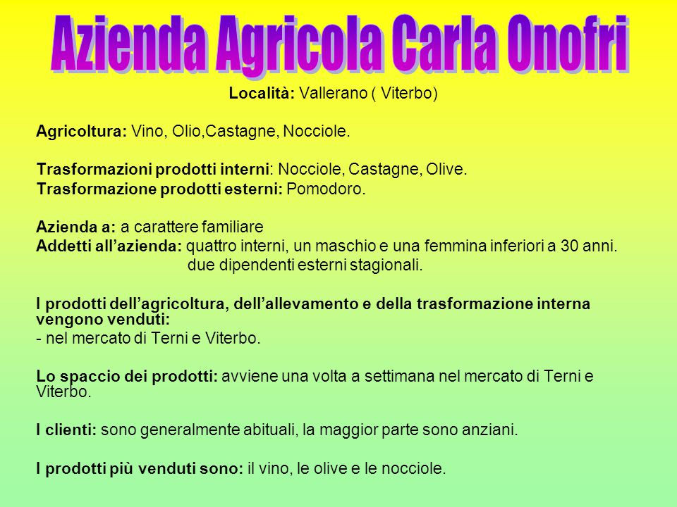 Azienda Agricola Carla Onofri