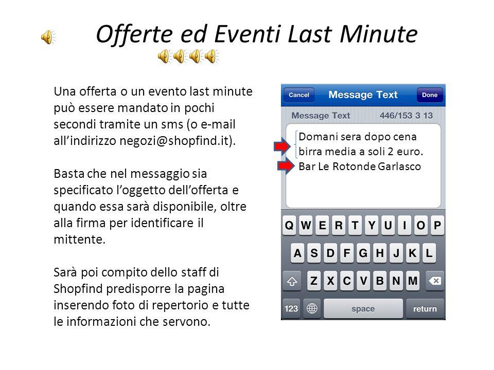 Offerte ed Eventi Last Minute
