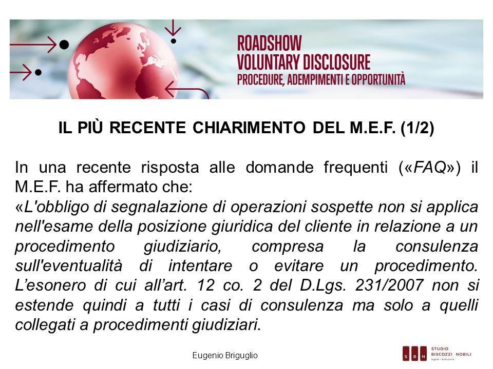 Il PIÙ RECENTE chiarimento del M.e.f. (1/2)