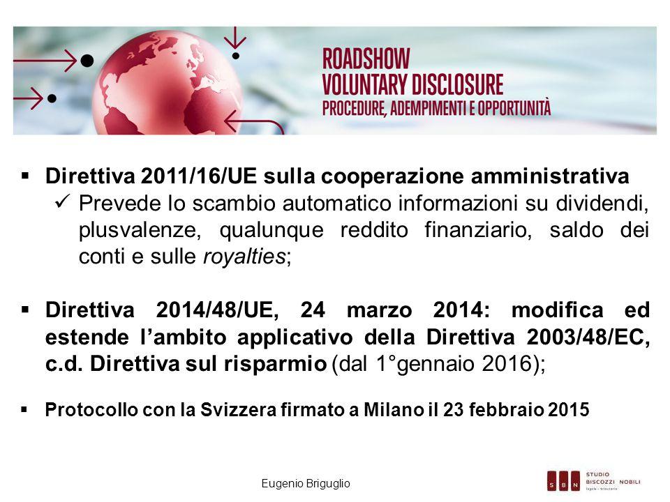 Direttiva 2011/16/UE sulla cooperazione amministrativa