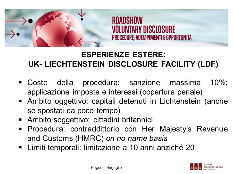 UK- Liechtenstein Disclosure FacilitY (LDF)