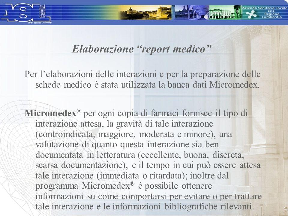 Elaborazione report medico