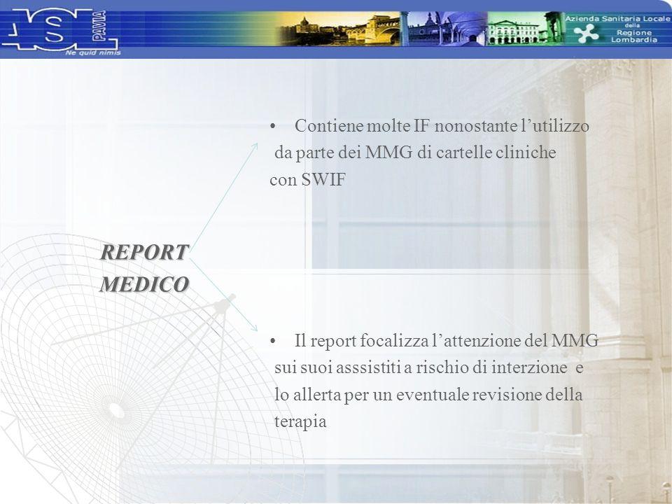 REPORT MEDICO Contiene molte IF nonostante l'utilizzo