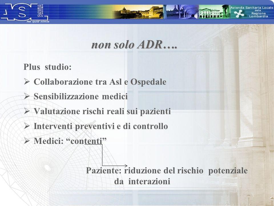 Paziente: riduzione del rischio potenziale da interazioni