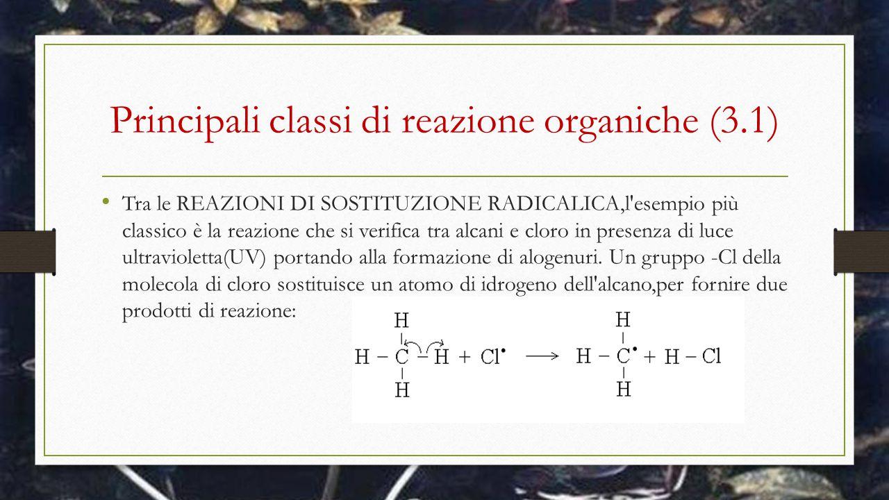 Principali classi di reazione organiche (3.1)