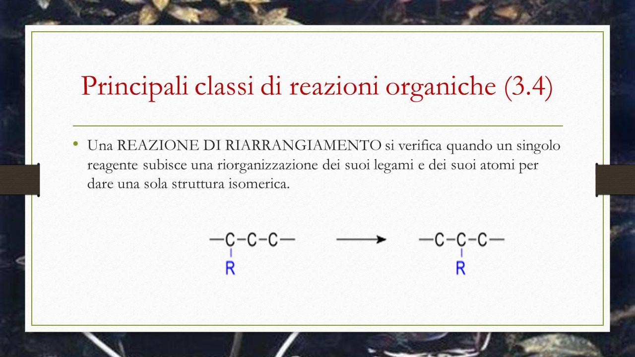 Principali classi di reazioni organiche (3.4)