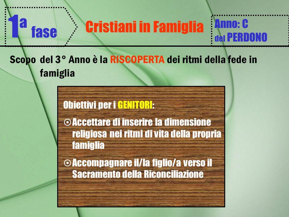 1ª fase Cristiani in Famiglia Anno: C del PERDONO