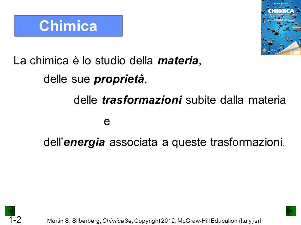 Chimica La chimica è lo studio della materia, delle sue proprietà,