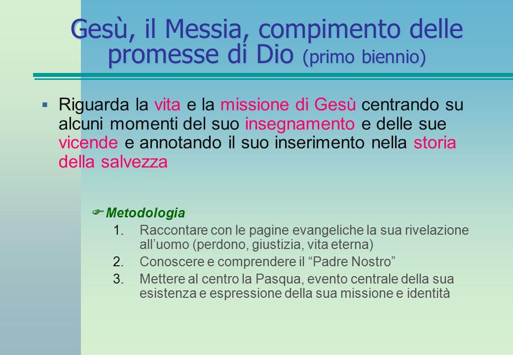 Gesù, il Messia, compimento delle promesse di Dio (primo biennio)