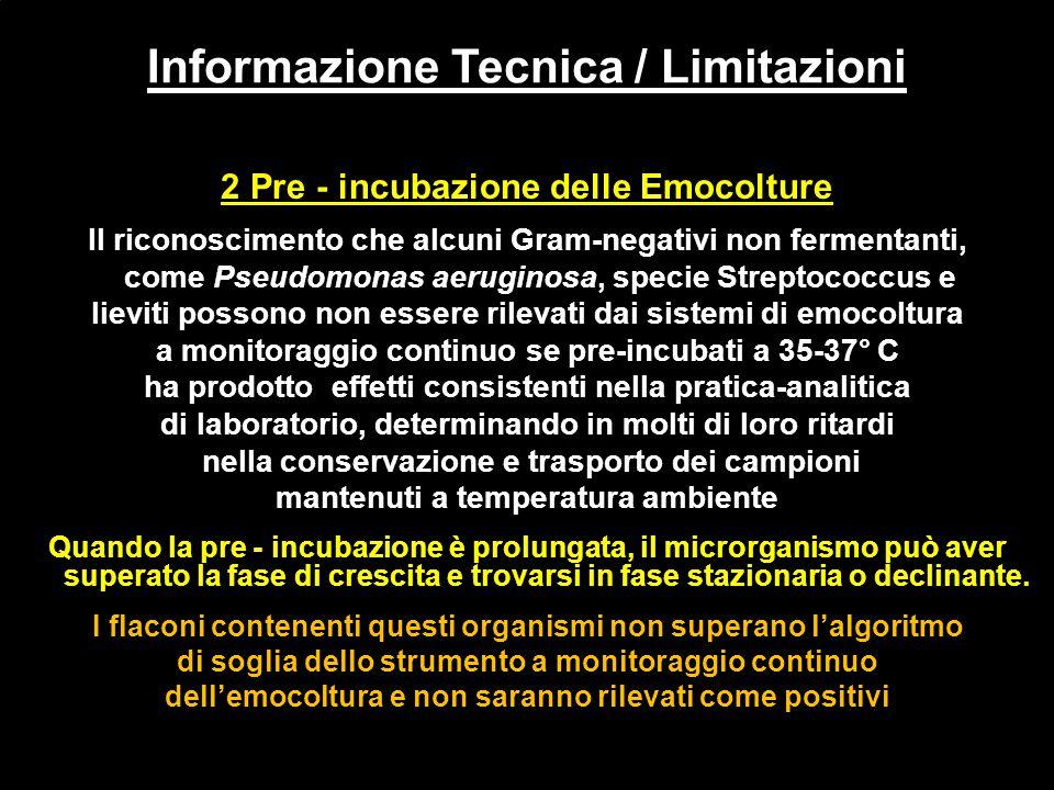 Informazione Tecnica / Limitazioni
