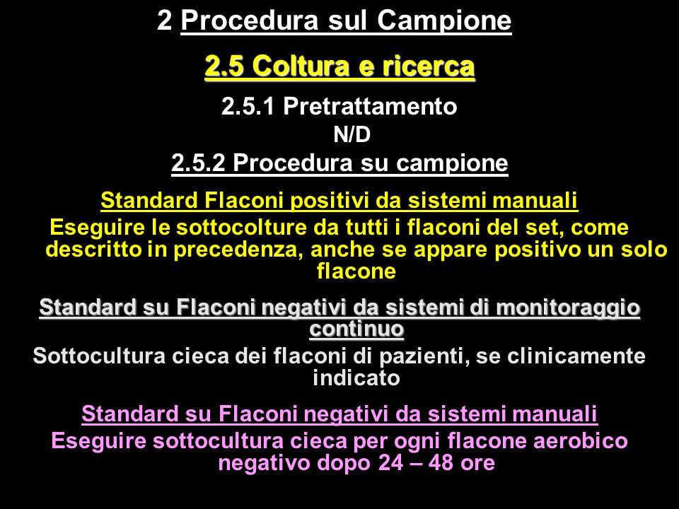 2 Procedura sul Campione