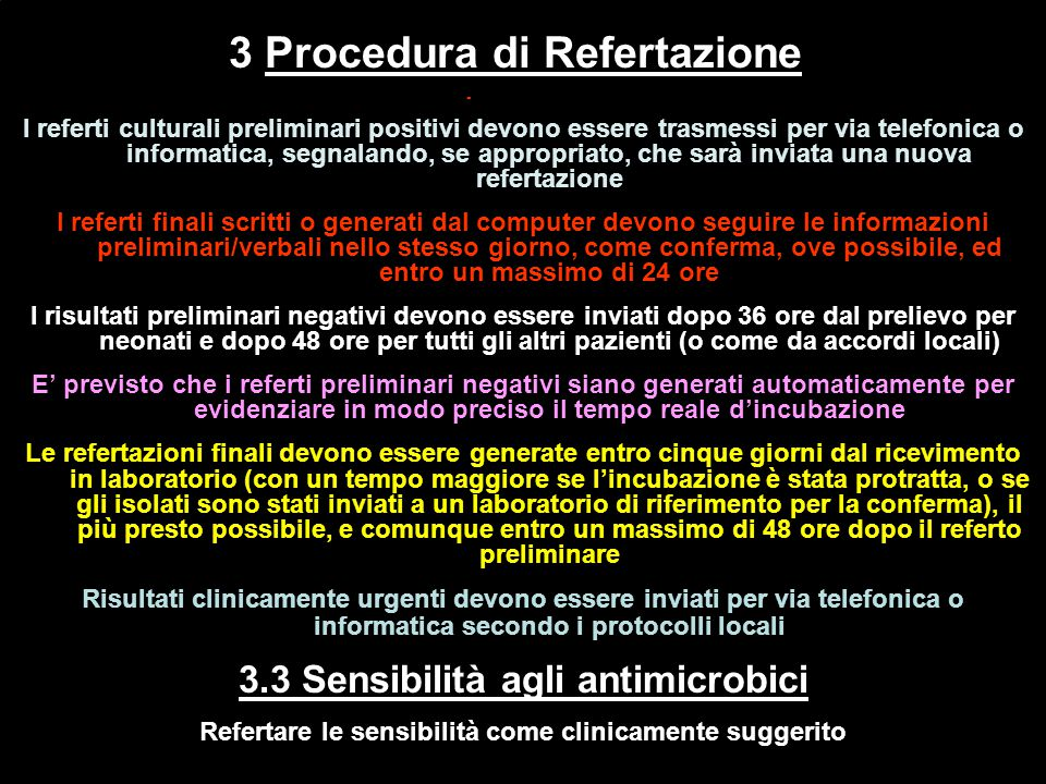 3 Procedura di Refertazione