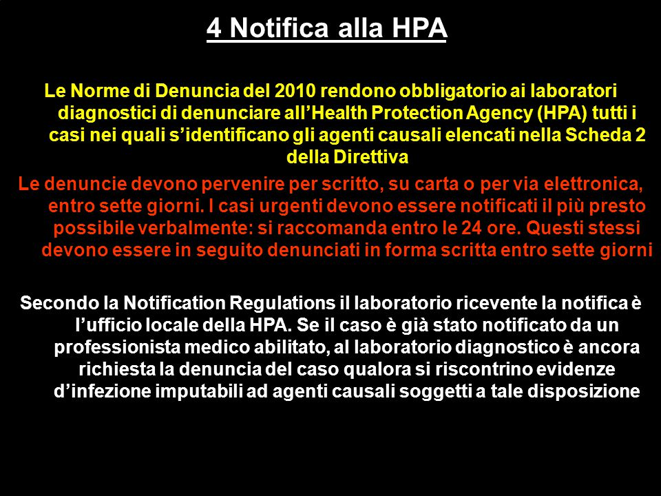 4 Notifica alla HPA