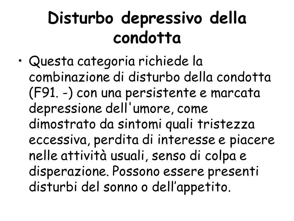 Disturbo depressivo della condotta