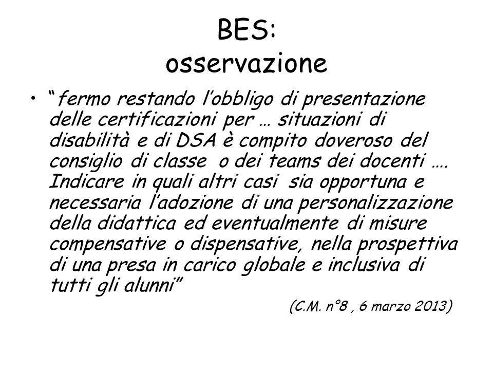 BES: osservazione