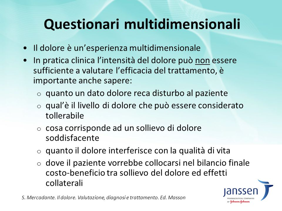 Questionari multidimensionali