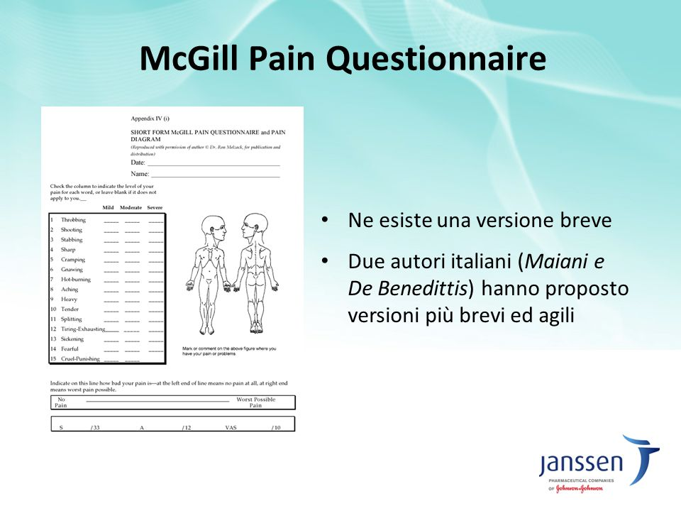 McGill Pain Questionnaire