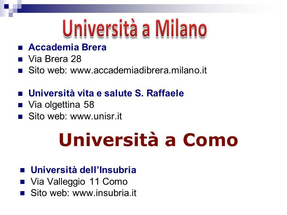 Università a Como Accademia Brera Via Brera 28
