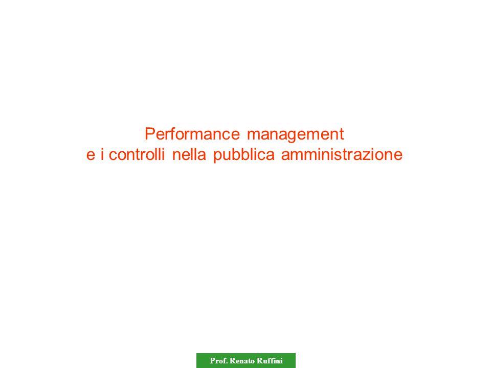 Performance management e i controlli nella pubblica amministrazione