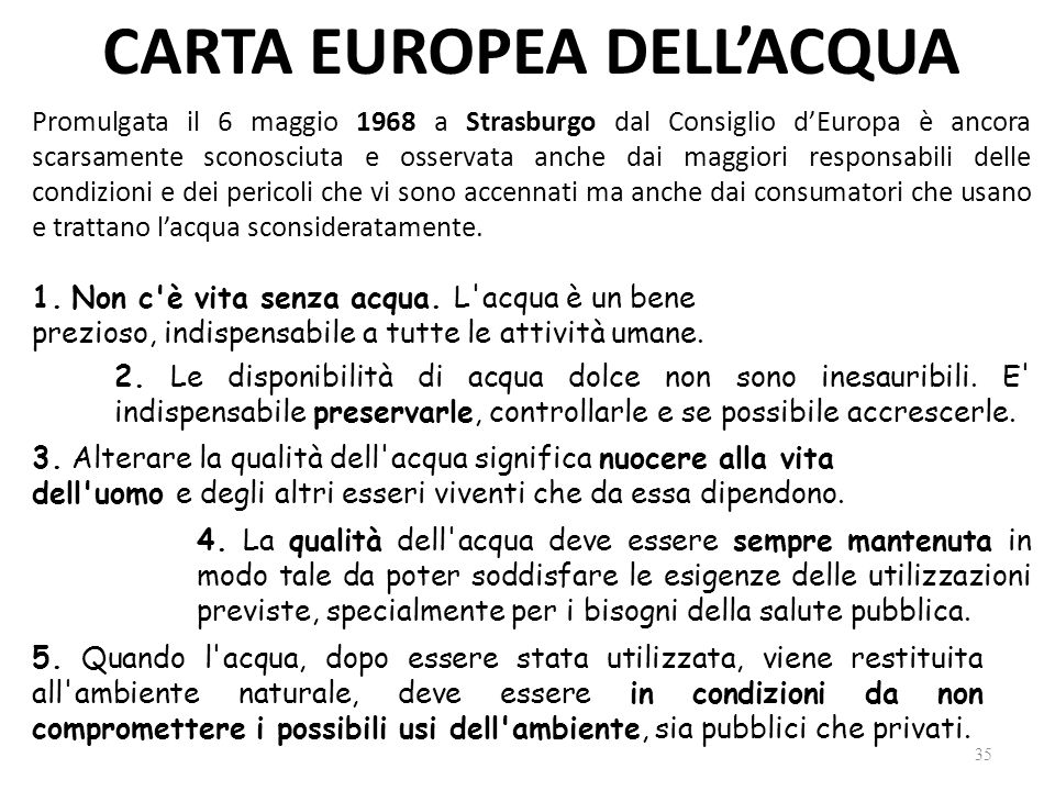 CARTA EUROPEA DELL'ACQUA