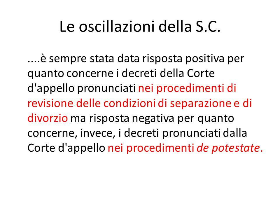 Le oscillazioni della S.C.
