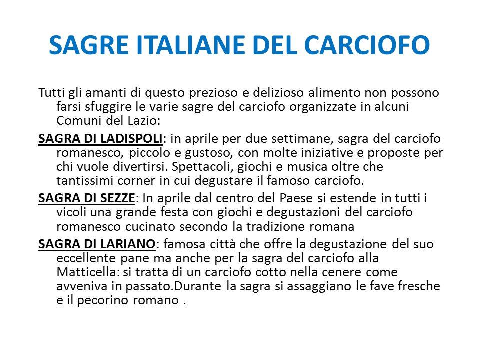 SAGRE ITALIANE DEL CARCIOFO
