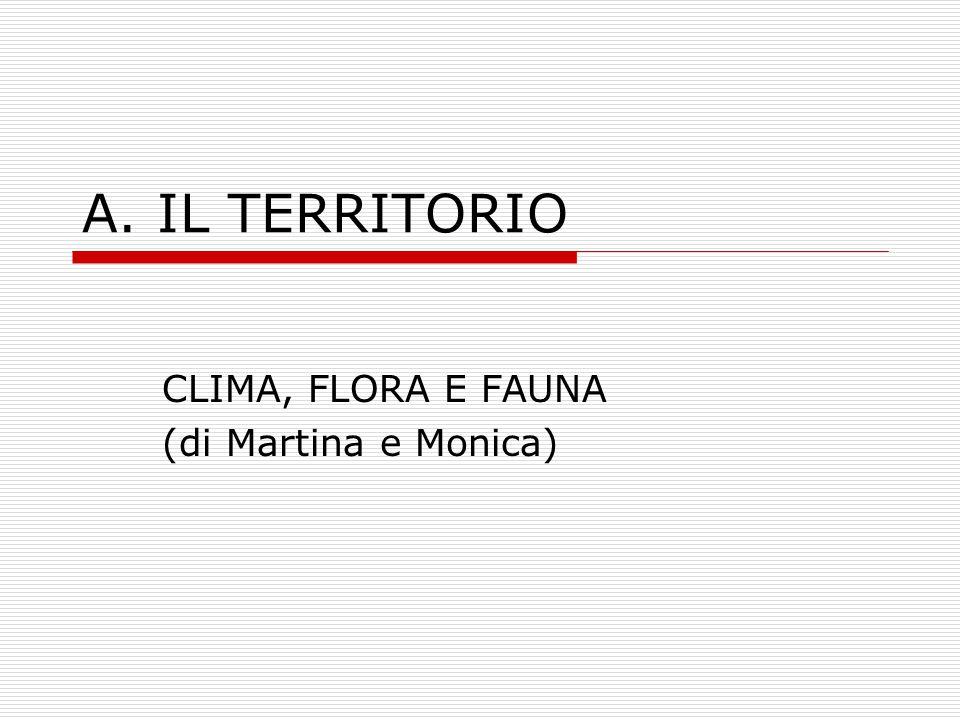 CLIMA, FLORA E FAUNA (di Martina e Monica)