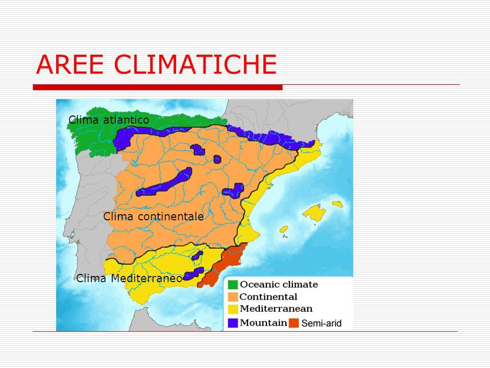 AREE CLIMATICHE Clima atlantico Clima continentale Clima Mediterraneo
