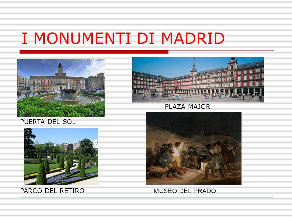 I MONUMENTI DI MADRID PLAZA MAJOR PUERTA DEL SOL PARCO DEL RETIRO