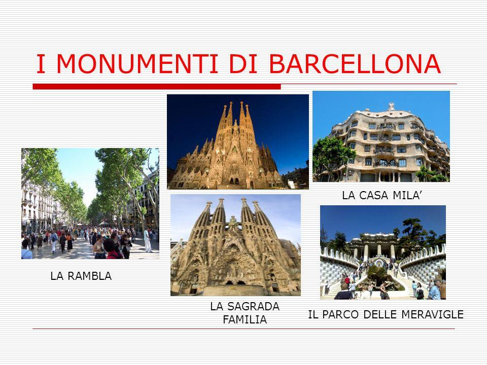 I MONUMENTI DI BARCELLONA