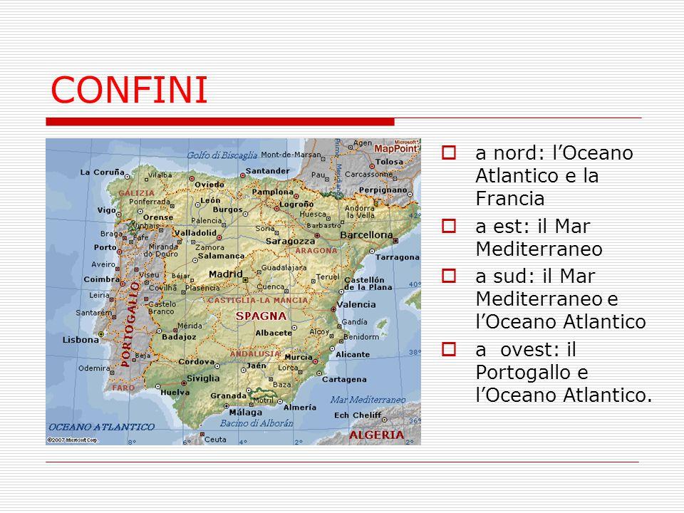 CONFINI a nord: l'Oceano Atlantico e la Francia