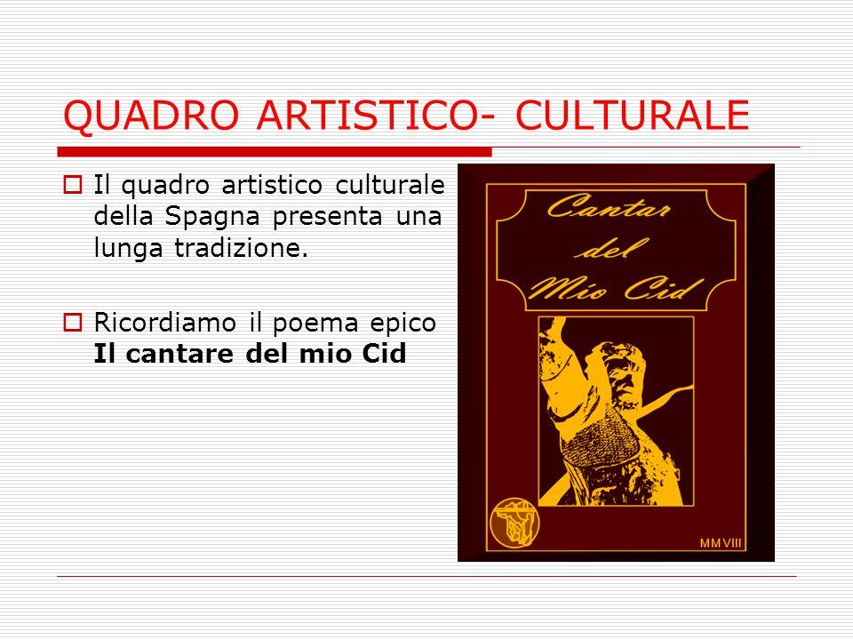 QUADRO ARTISTICO- CULTURALE