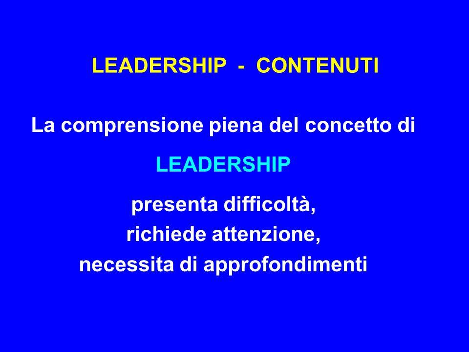 LEADERSHIP - CONTENUTI