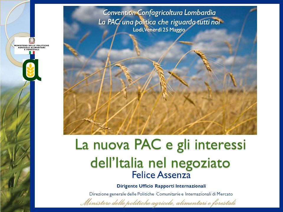 La nuova PAC e gli interessi dell'Italia nel negoziato