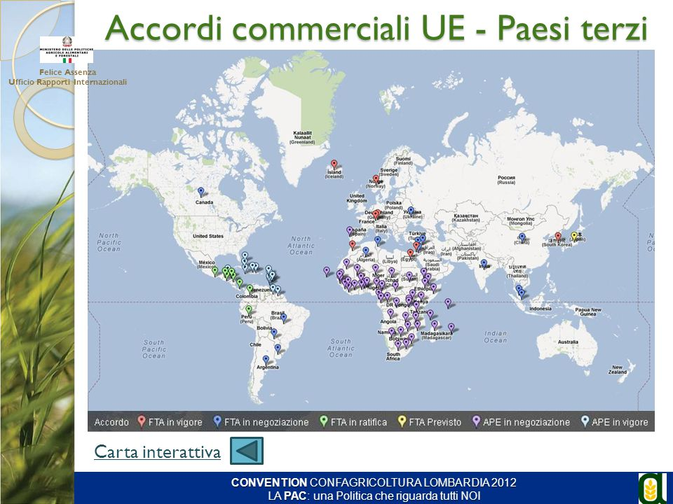 Accordi commerciali UE - Paesi terzi